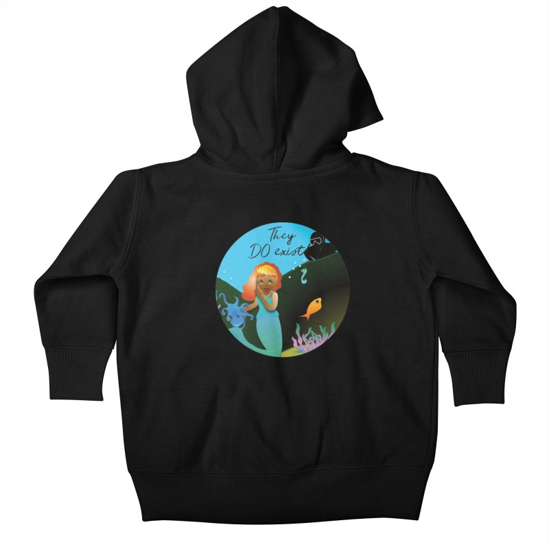 They DO Exist Kids Baby Zip-Up Hoody by MyInspirationalGifts Artist Shop