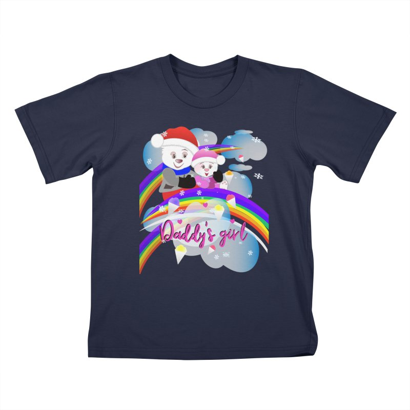 Daddy's Girl Winter Kids T-Shirt by MyInspirationalGifts Artist Shop