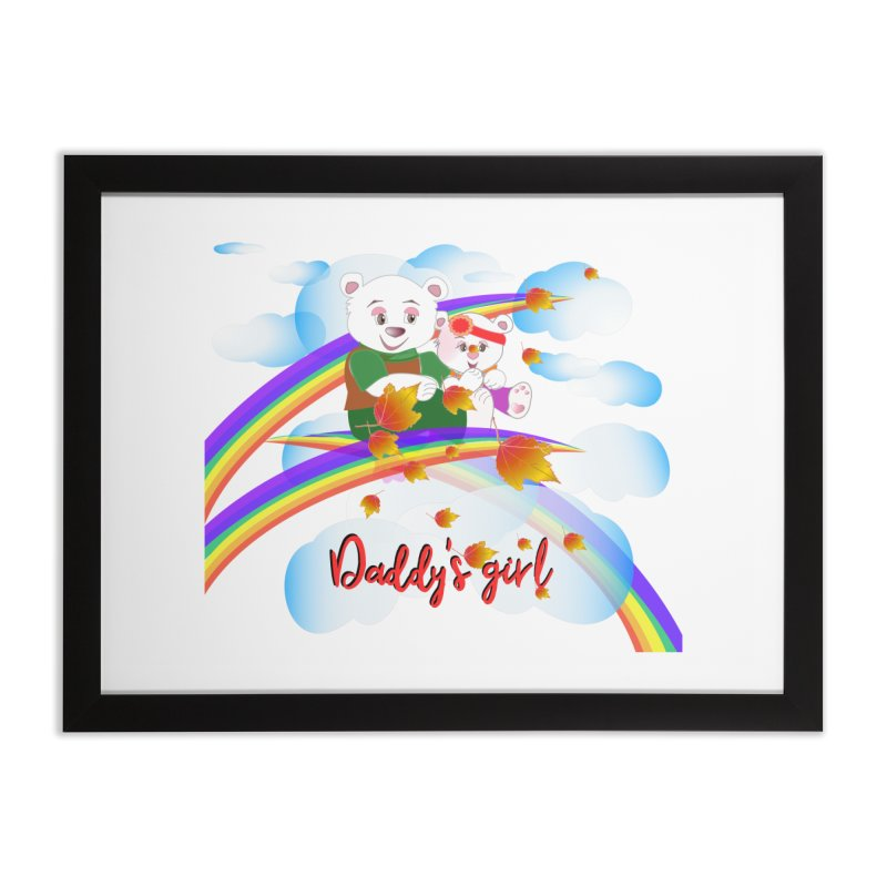 Daddy's Girl FALL Home Framed Fine Art Print by MyInspirationalGifts Artist Shop