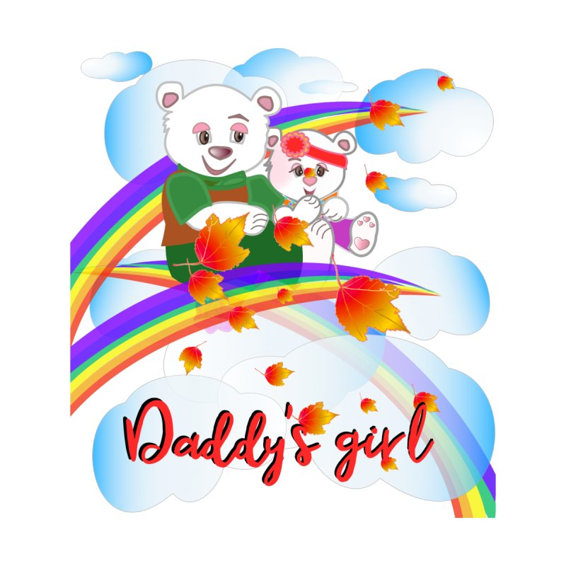 Daddy's Girl FALL Kids T-Shirt by MyInspirationalGifts Artist Shop
