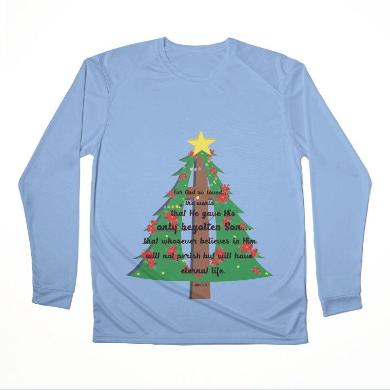 John 3:16 Remembering Christ in Christmas Women's Longsleeve T-Shirt by MyInspirationalGifts Artist Shop