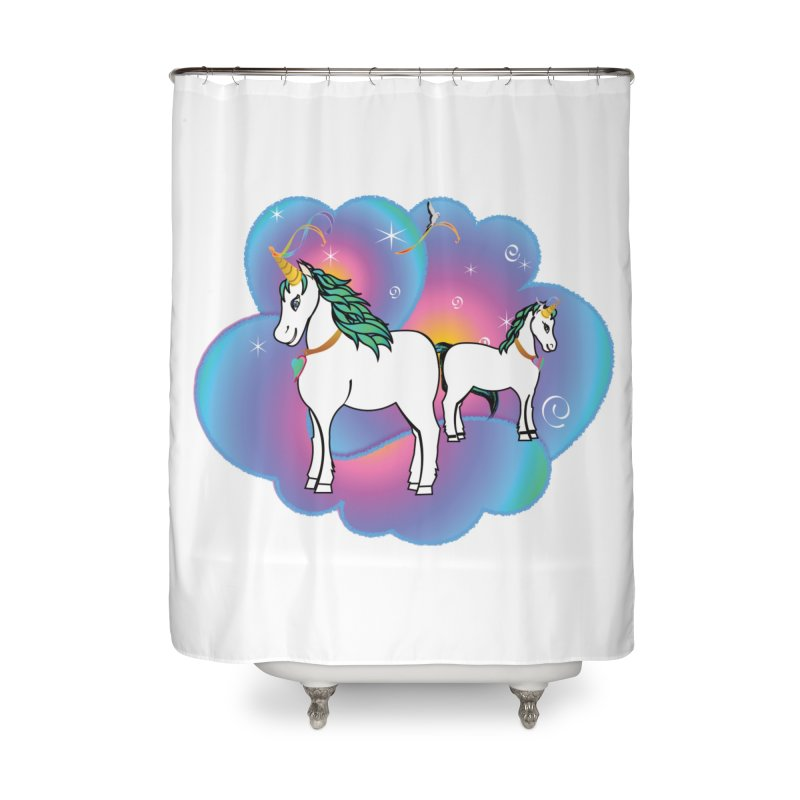 For the Love of Family Home Shower Curtain by MyInspirationalGifts Artist Shop