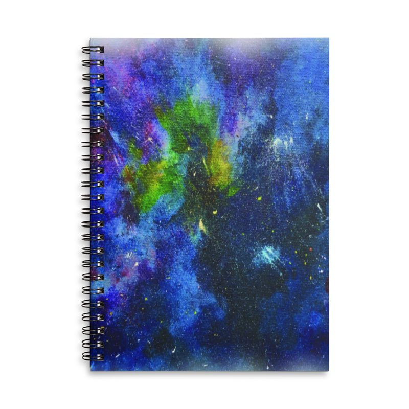 A Splash of Nebular Accessories Lined Spiral Notebook by MyInspirationalGifts Artist Shop