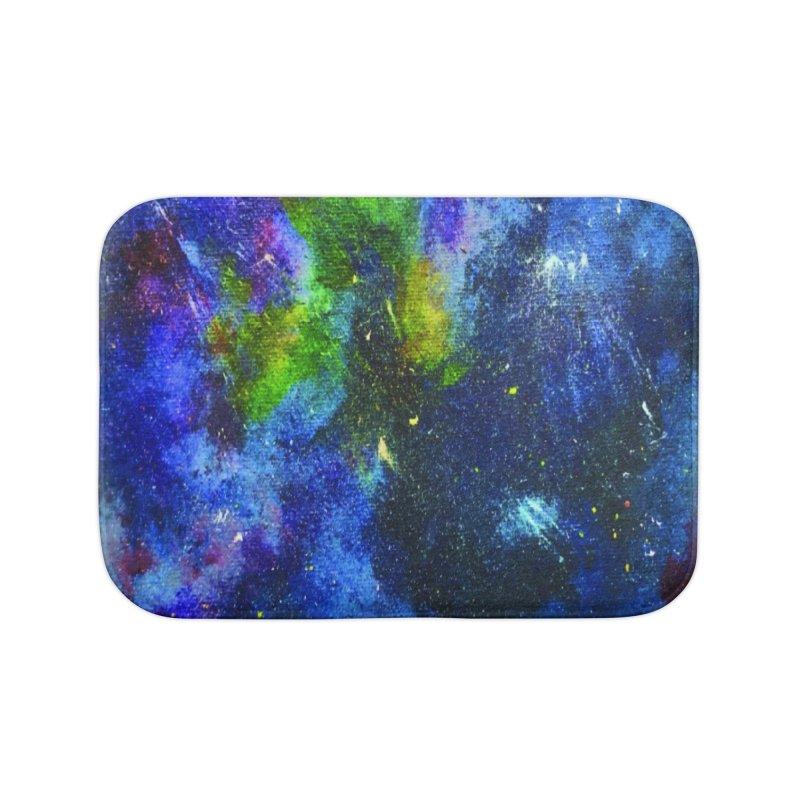 A Splash of Nebular Home Bath Mat by MyInspirationalGifts Artist Shop