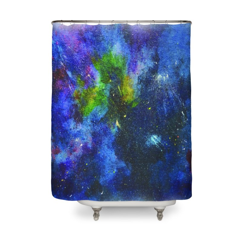 A Splash of Nebular Home Shower Curtain by MyInspirationalGifts Artist Shop