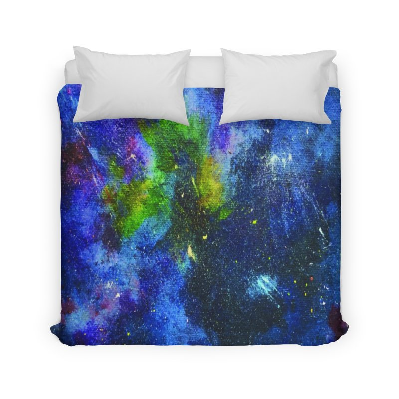 A Splash of Nebular Home Duvet by MyInspirationalGifts Artist Shop