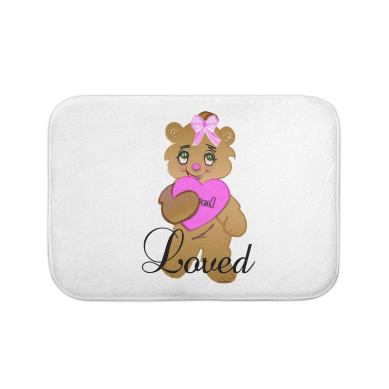 Beary Loved Home Bath Mat by MyInspirationalGifts Artist Shop