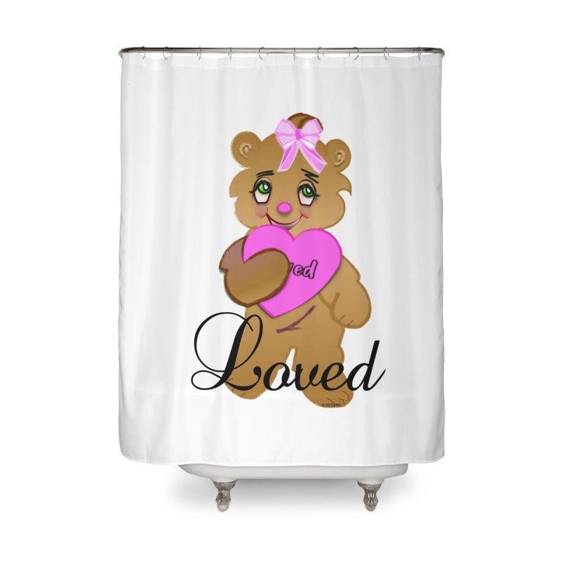 Beary Loved Home Shower Curtain by MyInspirationalGifts Artist Shop