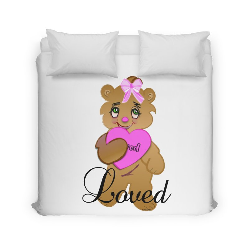Beary Loved Home Duvet by MyInspirationalGifts Artist Shop
