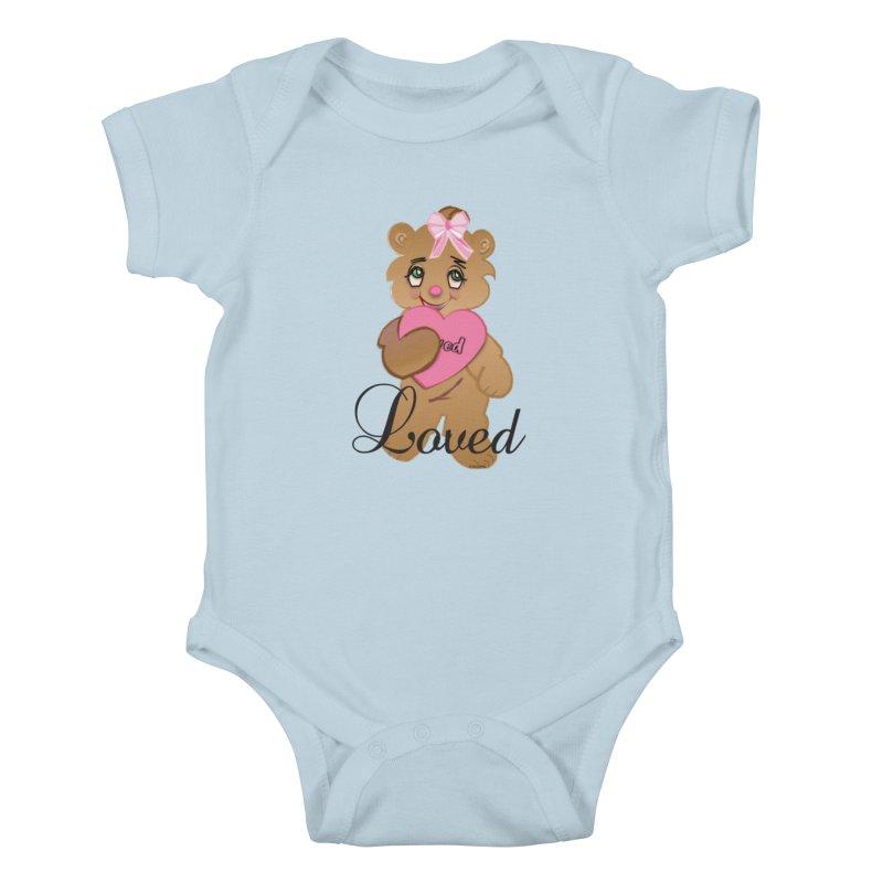 Beary Loved Kids Baby Bodysuit by MyInspirationalGifts Artist Shop