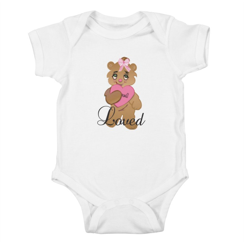 Beary Loved Kids Baby Bodysuit by MyInspirationalGifts Artist Shop