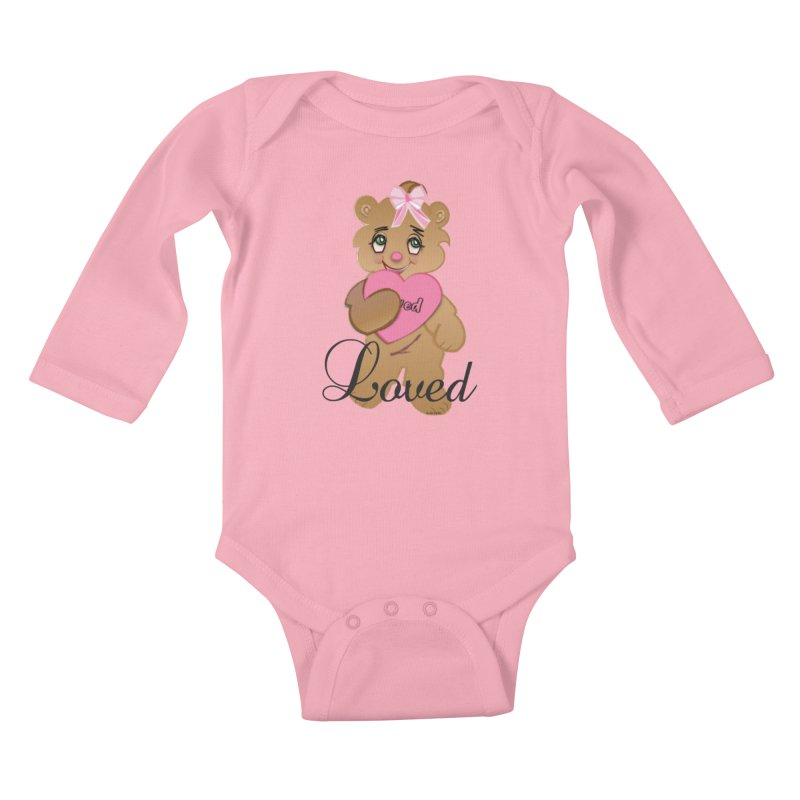 Beary Loved Kids Baby Longsleeve Bodysuit by MyInspirationalGifts Artist Shop