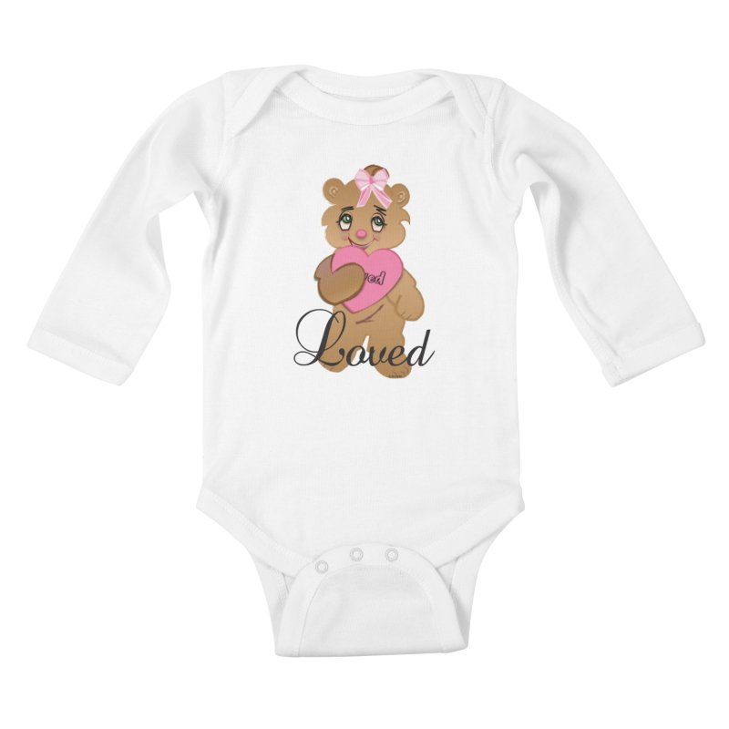 Beary Loved Kids Baby Longsleeve Bodysuit by MyInspirationalGifts Artist Shop