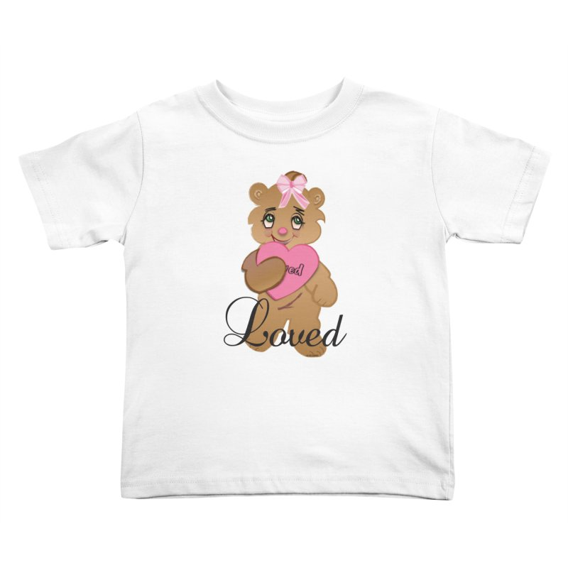 Beary Loved Kids Toddler T-Shirt by MyInspirationalGifts Artist Shop
