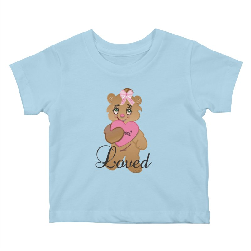 Beary Loved Kids Baby T-Shirt by MyInspirationalGifts Artist Shop