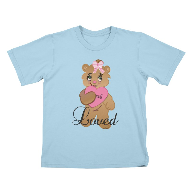 Beary Loved Kids T-Shirt by MyInspirationalGifts Artist Shop