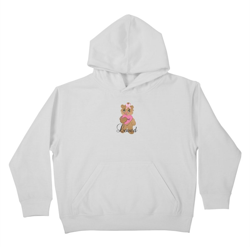Beary Loved Kids Pullover Hoody by MyInspirationalGifts Artist Shop