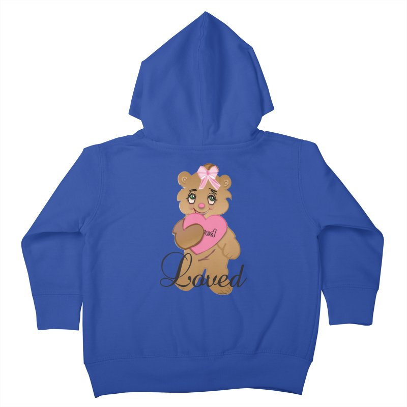 Beary Loved Kids Toddler Zip-Up Hoody by MyInspirationalGifts Artist Shop