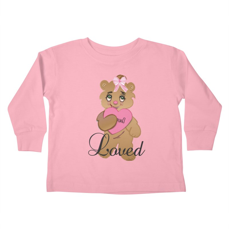 Beary Loved Kids Toddler Longsleeve T-Shirt by MyInspirationalGifts Artist Shop