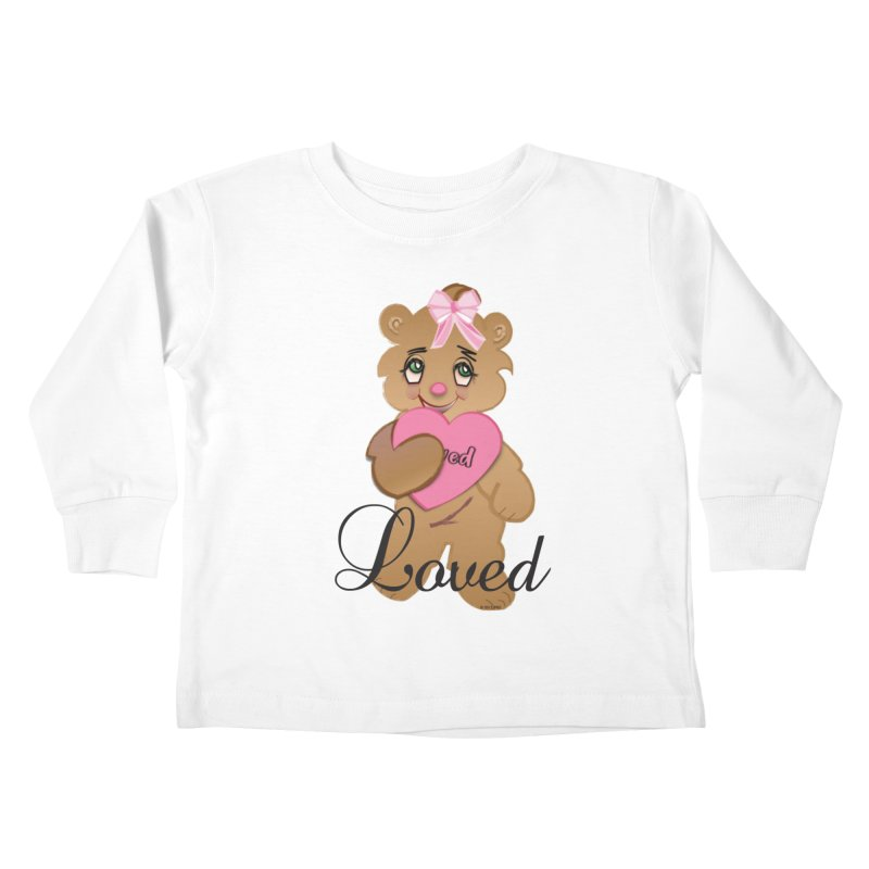 Beary Loved Kids Toddler Longsleeve T-Shirt by MyInspirationalGifts Artist Shop