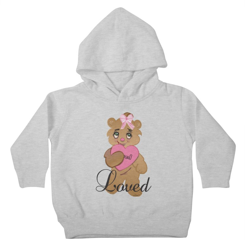 Beary Loved Kids Toddler Pullover Hoody by MyInspirationalGifts Artist Shop