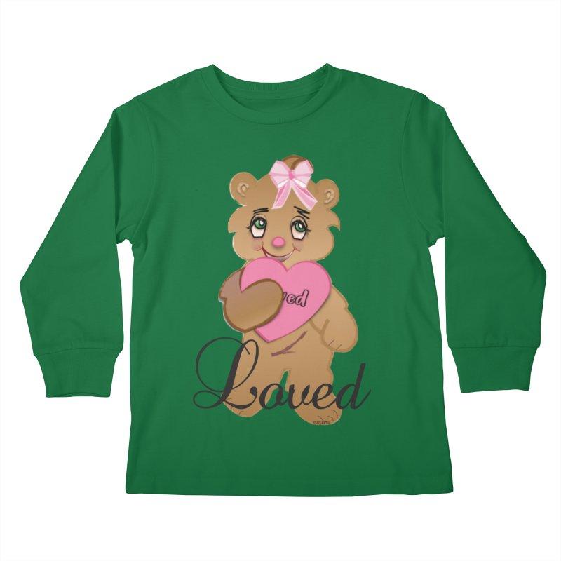 Beary Loved Kids Longsleeve T-Shirt by MyInspirationalGifts Artist Shop