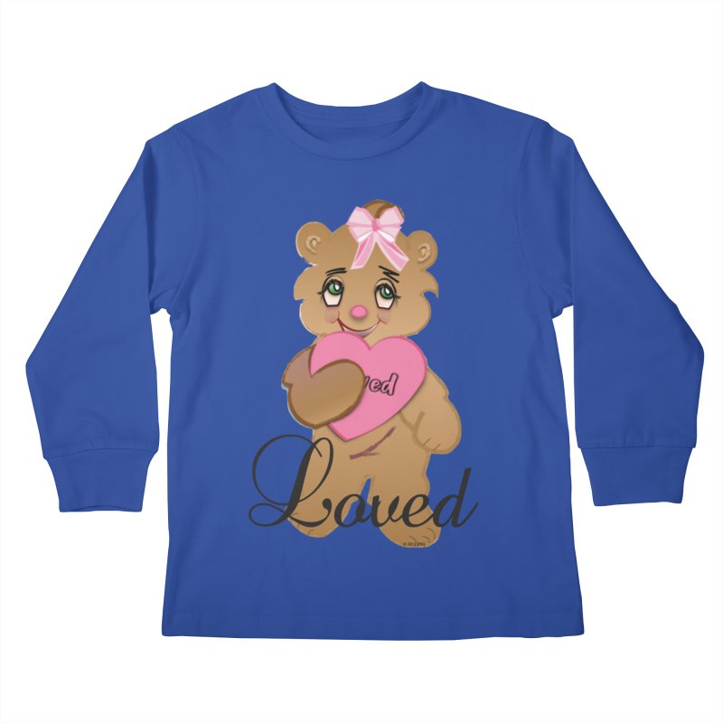 Beary Loved Kids Longsleeve T-Shirt by MyInspirationalGifts Artist Shop
