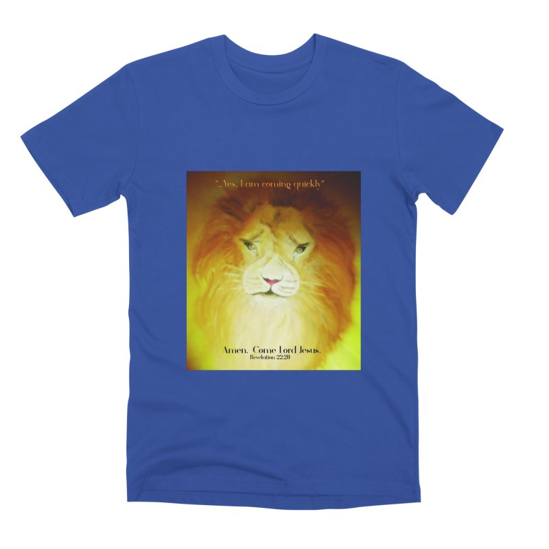 Revelation 22:20 Men's Premium T-Shirt by MyInspirationalGifts Artist Shop