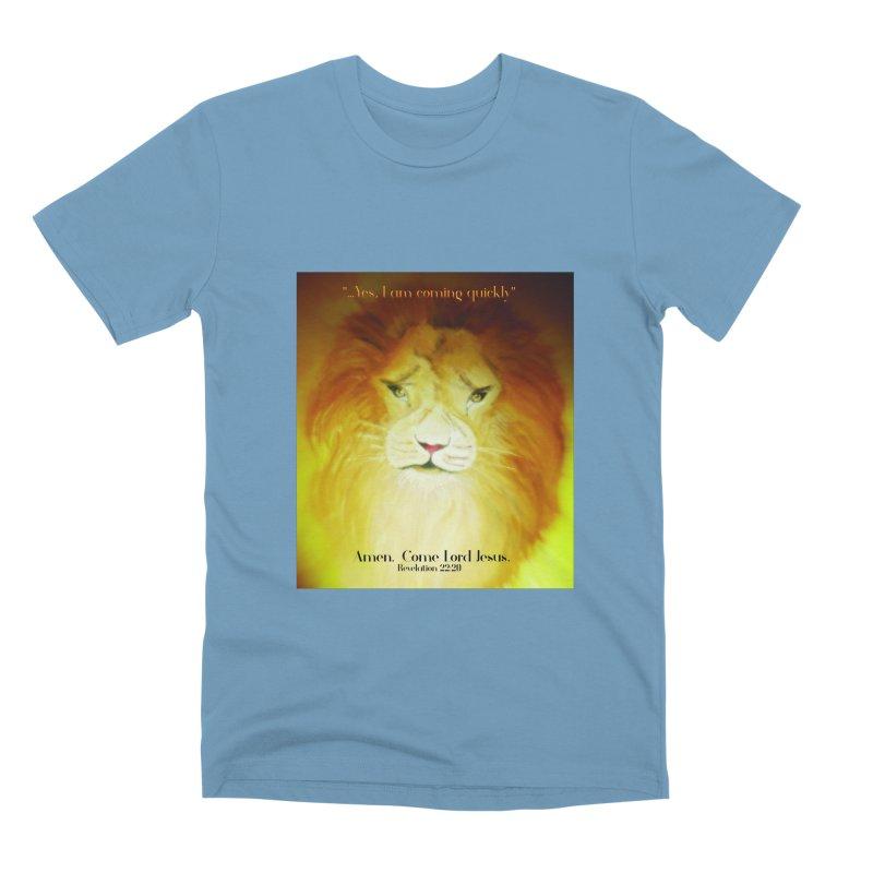 Revelation 22:20 Men's Premium T-Shirt by MyInspirationalGifts Artist Shop