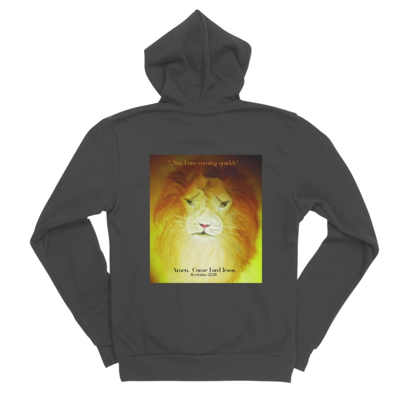 Revelation 22:20 Men's Sponge Fleece Zip-Up Hoody by MyInspirationalGifts Artist Shop