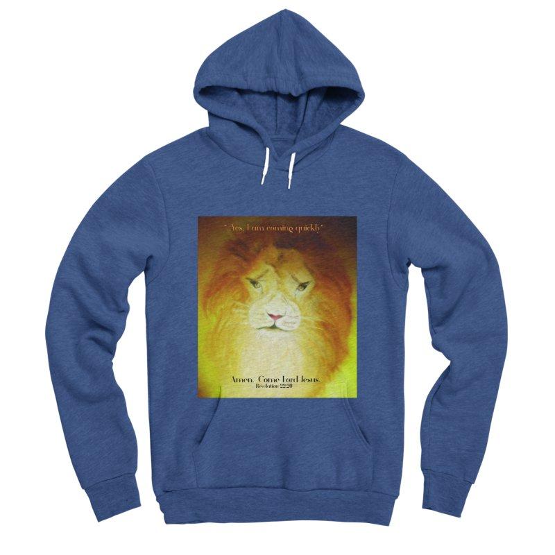 Revelation 22:20 Men's Sponge Fleece Pullover Hoody by MyInspirationalGifts Artist Shop