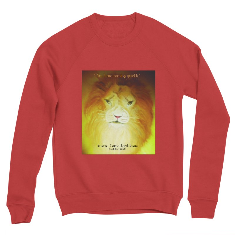 Revelation 22:20 Men's Sponge Fleece Sweatshirt by MyInspirationalGifts Artist Shop
