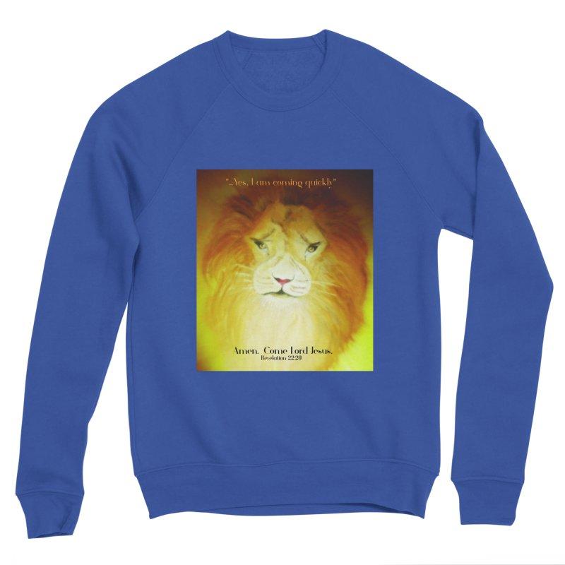 Revelation 22:20 Men's Sponge Fleece Sweatshirt by MyInspirationalGifts Artist Shop