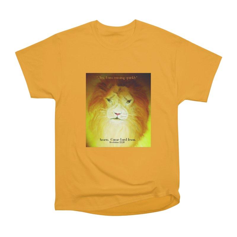 Revelation 22:20 Men's Heavyweight T-Shirt by MyInspirationalGifts Artist Shop