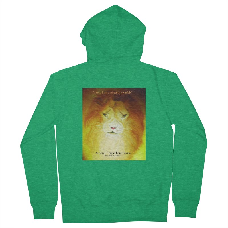 Revelation 22:20 Men's French Terry Zip-Up Hoody by MyInspirationalGifts Artist Shop