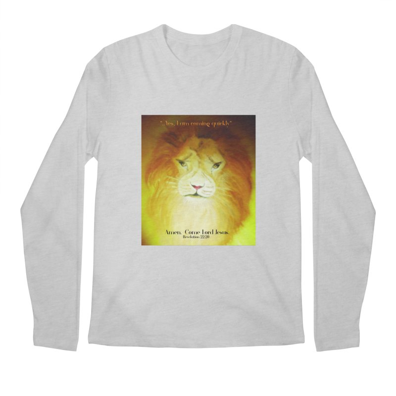 Revelation 22:20 Men's Regular Longsleeve T-Shirt by MyInspirationalGifts Artist Shop