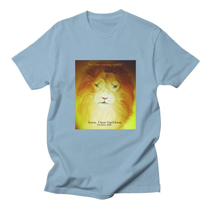 Revelation 22:20 Men's Regular T-Shirt by MyInspirationalGifts Artist Shop