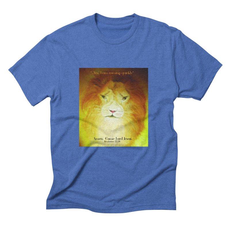 Revelation 22:20 Men's Triblend T-Shirt by MyInspirationalGifts Artist Shop