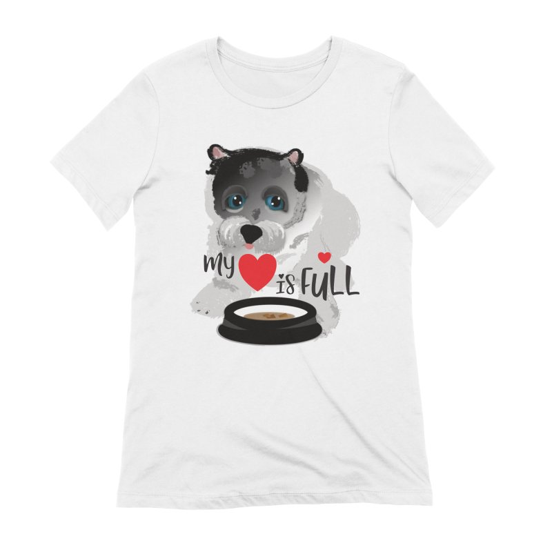 My Heart is Full Women's Extra Soft T-Shirt by MyInspirationalGifts Artist Shop
