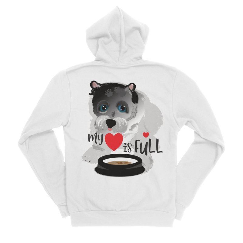 My Heart is Full Women's Sponge Fleece Zip-Up Hoody by MyInspirationalGifts Artist Shop