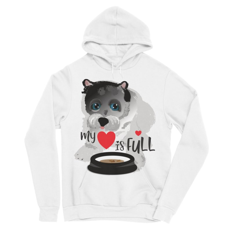My Heart is Full Women's Sponge Fleece Pullover Hoody by MyInspirationalGifts Artist Shop
