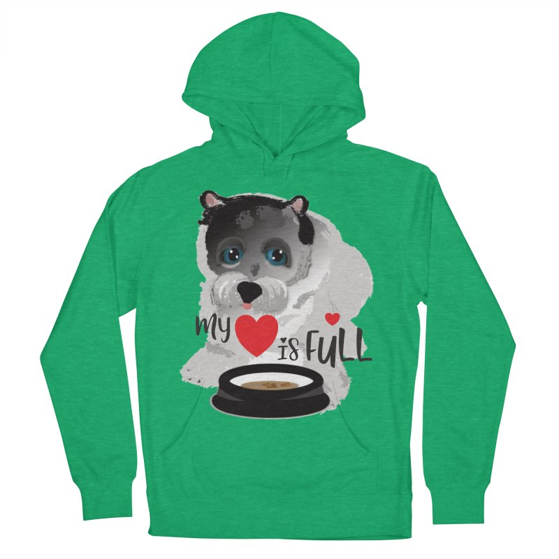 My Heart is Full Women's French Terry Pullover Hoody by MyInspirationalGifts Artist Shop