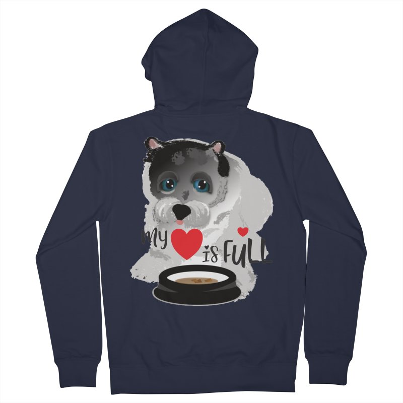 My Heart is Full Women's French Terry Zip-Up Hoody by MyInspirationalGifts Artist Shop