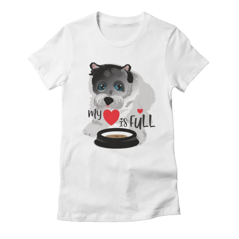 My Heart is Full Women's Fitted T-Shirt by MyInspirationalGifts Artist Shop
