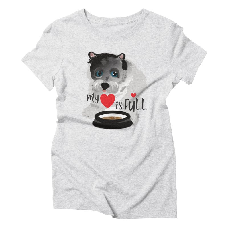 My Heart is Full Women's Triblend T-Shirt by MyInspirationalGifts Artist Shop