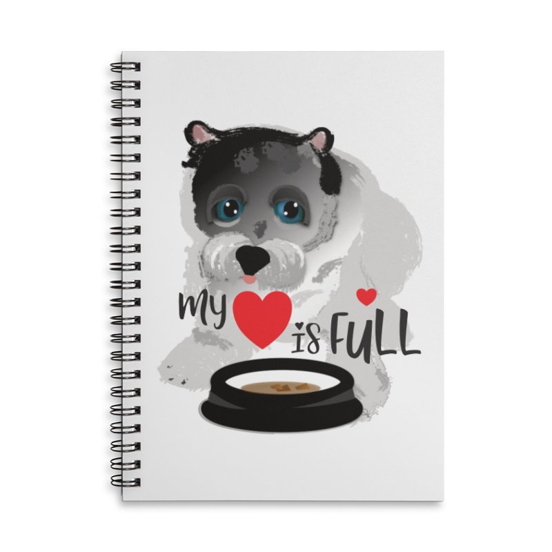 My Heart is Full Accessories Lined Spiral Notebook by MyInspirationalGifts Artist Shop