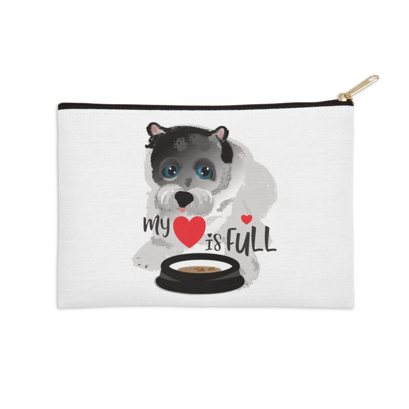 My Heart is Full Accessories Zip Pouch by MyInspirationalGifts Artist Shop