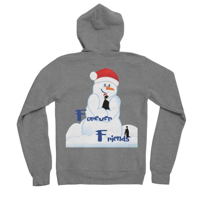 Forever Friends Women's Sponge Fleece Zip-Up Hoody by MyInspirationalGifts Artist Shop