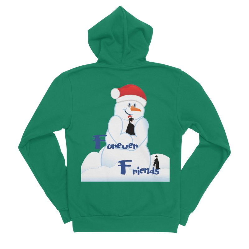 Forever Friends Women's Sponge Fleece Zip-Up Hoody by MyInspirationalGifts Artist Shop