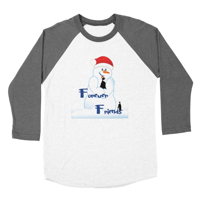 Forever Friends Women's Baseball Triblend Longsleeve T-Shirt by MyInspirationalGifts Artist Shop